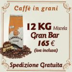Miscela caffè in grani Gran Bar 12kg