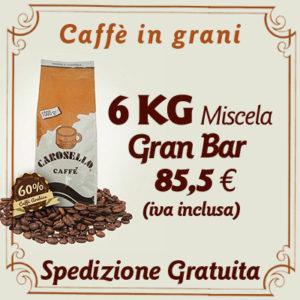 Caffè in grani Gran Bar 6 Kg