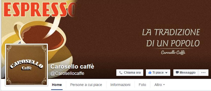 Pagina Facebbok Carosello caffe